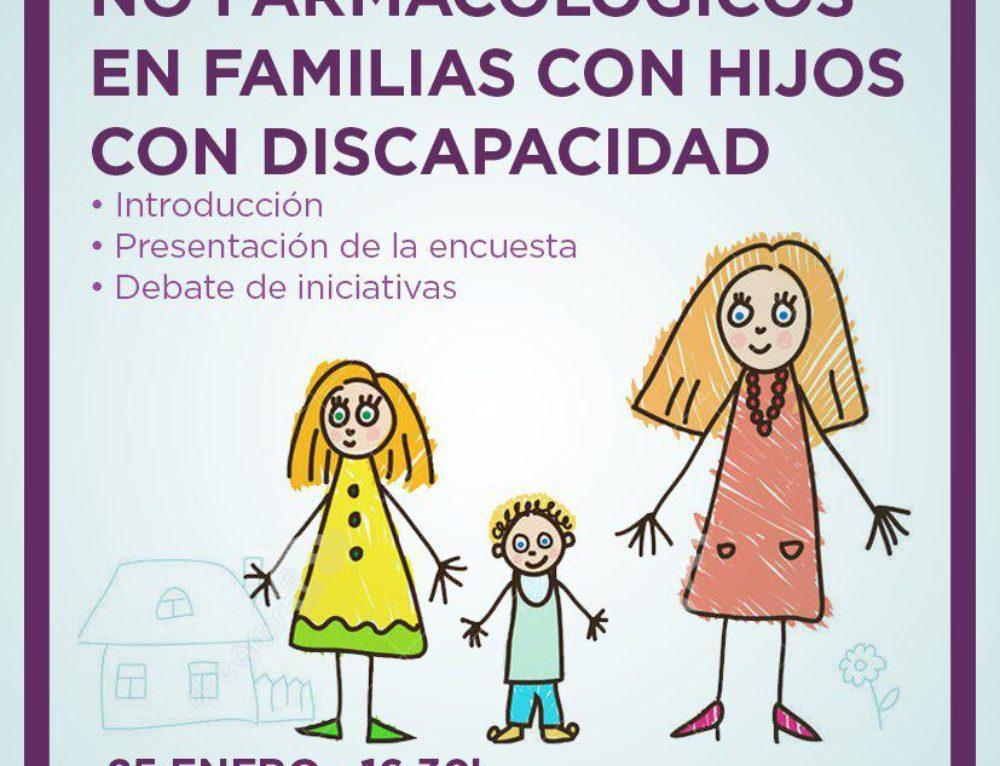 """Asamblea de Madrid. Presentación del """"Estudio exploratorio sobre copago no farmacológico en familias con hijos con discapacidad"""". 25 de enero de 2018."""