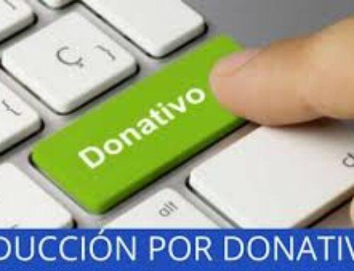 Aumenta en cinco puntos las desgravaciones fiscales a contribuyentes en su Declaración de la Renta por las donaciones realizadas a entidades sin fines lucrativos